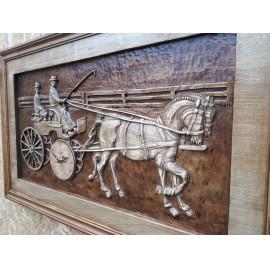 Lovasóra,Lófogat,Faragott lovak órával